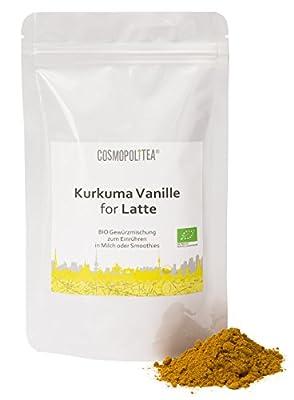 BIO Kurkuma-Latte Vanille, 150g, (Kurkuma-Pulver mit Vanille) im wiederverschließbaren Beutel