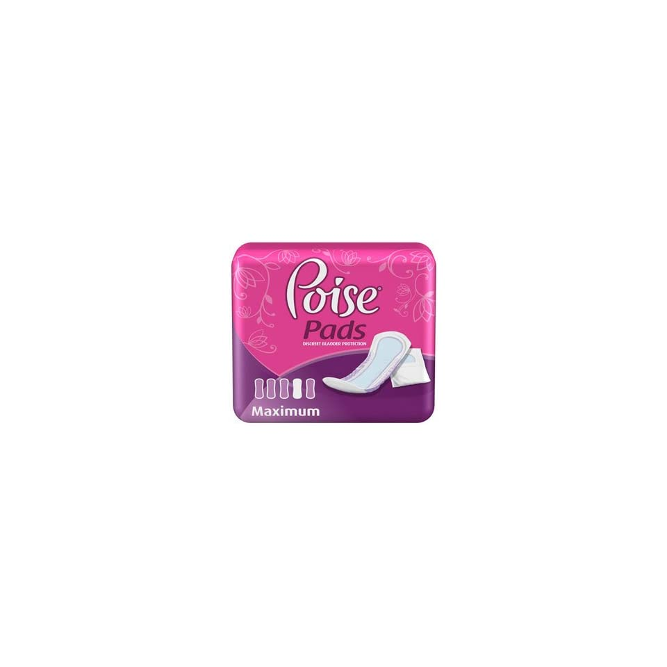 f77588df1c11 Special 4 packs of POISE Pads with Side Shields Max Absorb 52 per pack  Kimberly Clark