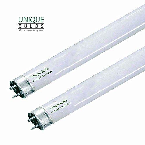 (Pack of 2) F17T8/750 24' 17 Watt STRAIGHT T8 fluorescent tube light bulb, (Full Spectrum Fluorescent Tubes compare prices)