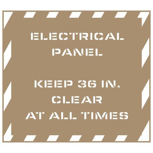 "Compliancesigns Plastic Electrical Panel Stencil, 43"" X 38"""
