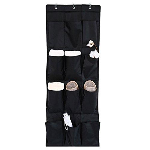 Hoomall Sac de Rangement Suspendu Panier Pochette de Rangement Sac Organisateur Porte pour Chaussures Pliable 12 Poches Noir