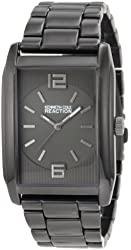 Kenneth Cole REACTION Men's RK5104 Rectangle Analog Grey Tone Watch