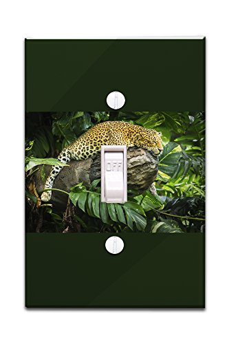 Leopard Napping (Light Switchplate Cover)