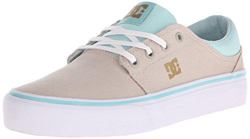 DC Women's Trase TX Skate Shoe, Sand Dollar, 7.5 M US