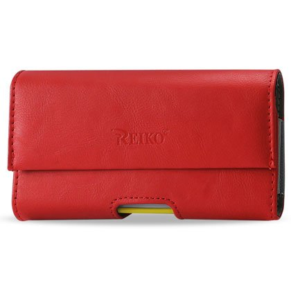 Reiko Wireless Samsung Galaxy S3 Horizontal Pouch - Retail Packaging - Red