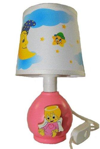 Tischlampe Lampe Stehlampe Tischleuchte Kinder Kinderzimmer Holz Baby Mädchen Girl 25cm hoch Nachttischlampe