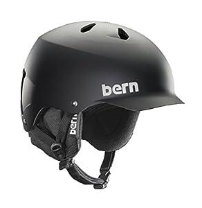 Bern Watts EPS Helmet,L/XL,Matte Black w/Black Knit Liner