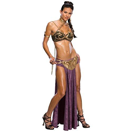 [GSG Princess Leia Slave Costume Adult Sexy Star Halloween Fancy Dress] (Princess Leia White Robe)