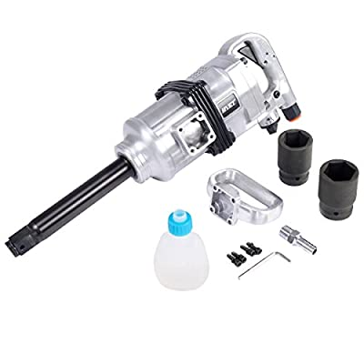 "Goplus® Heavy Duty 1"" Air Impact Wrench Gun Long Shank Commercial Truck Mechanics w/Case"