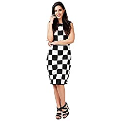 Eavan Women's Party Wear Bold checks Blended Dress