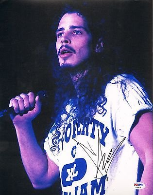 CHRIS CORNELL Signed SOUNDGARDEN 11x14 Photo PSA/DNA #Z50070 Audioslave
