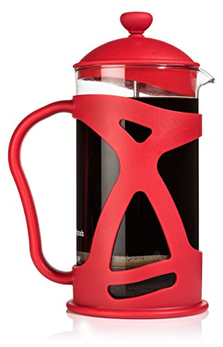 French Press Coffee Maker (8 Cup) by Sunlit, Brews Coffee and Tea, Red (Perculator Coffee Grinder compare prices)