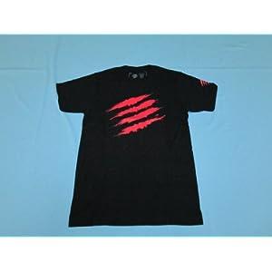 Team Mad Catz Tシャツ 2012 黒/赤 M (ウメハラ着用デザイン)