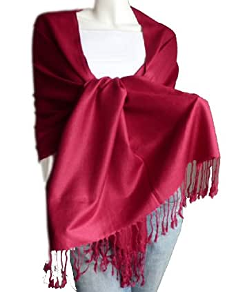 New Best Soft Pashmina Shawl Wrap Stole (Burgundy) at