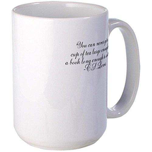 CafePress - CS Lewis Tea Books Mug - Coffee Mug, Large 15 oz. White Coffee Cup (Cs Lewis Quote Mug compare prices)