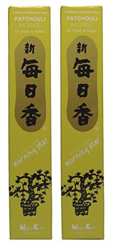 TRIMONTIUM-184-Nippon-Kodo-Morning-Star-japanische-Rucherstbchen-Duopack-2-x-50-Stck-Patschuli-Patchouli