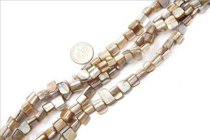 8mm--9mm gemstone cream white shell beads strand 15