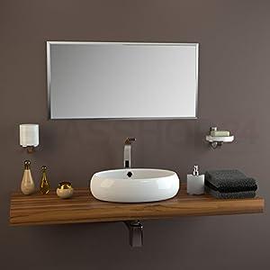 rahmenloser kristallspiegel 18 mm facette 40x90cm. Black Bedroom Furniture Sets. Home Design Ideas