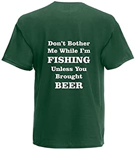 Don't Bother Me I'm Fishing T-Shirt Funny Birthday Gift Mens Womens Top Present