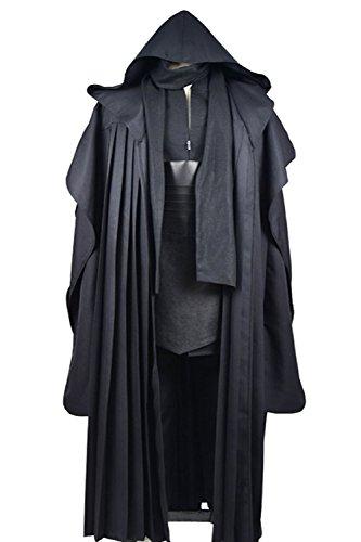 [Dben Mens Cosplay Costume Tunic Robe Uniform Cosplay Costume Linen Version] (Malcolm Merlyn Costume)