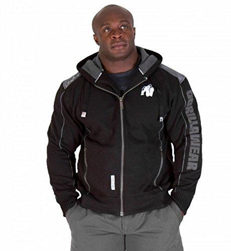 Gorilla Wear 90801 - Giacca sportiva, 80% cotone 20% poliestere, colore: Nero, Nero (nero), XXXL