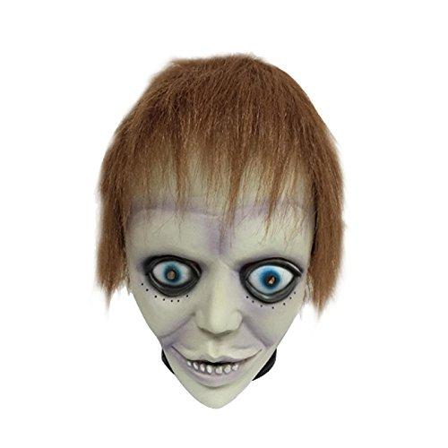 LaTeX material alien mask cosplay props Halloween costume wig, purple bad boy