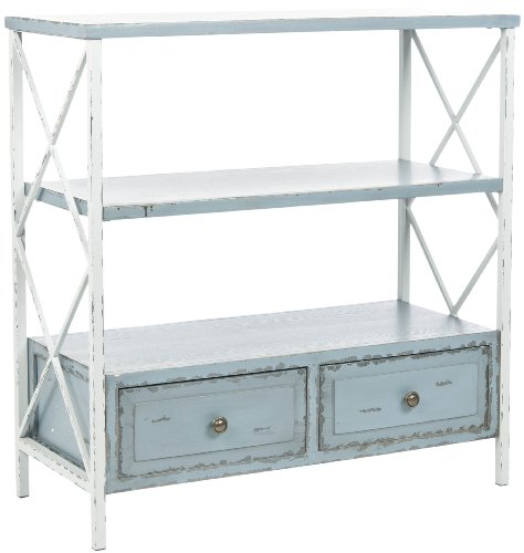 Cheap Safavieh American Home Collection Marco Distressed Console Table, Pale Blue and White (AMH6551A)