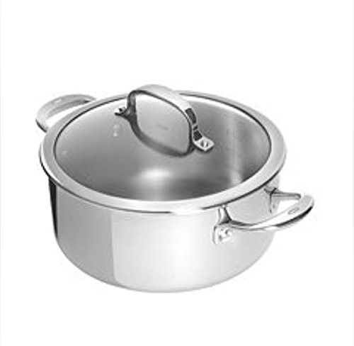 Cuisinart Chef's Classic Stainless Dutch Oven, Silver, 5.75 Qt.