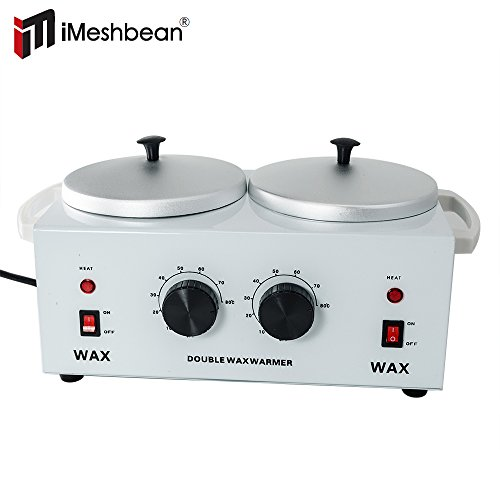 iMeshbean® Adjustable Double POT Dual Wax Warmer Parrafin Heater , Easy to Use and Fast to Warm Up, USA (Double Wax Warmer compare prices)