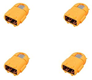 4 Pack Android Shape OTG Adapter Micro USB OTG to USB 2.0 Adapter for Smartphones & Tablets (Orange)