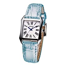 Seiko White Dial Blue Leather Ladies Watch SXGP23P1