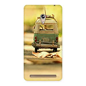 Ajay Enterprises Littel Old Bus Back Case Cover for Zenfone 6