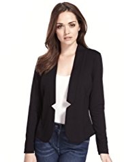Petite Open Front Notched Jacket