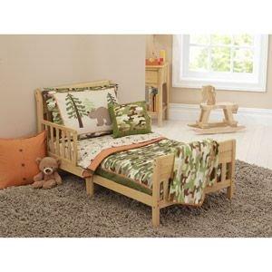 Amazon.com : 4pc Toddler Boy Outdoor Bear Camo Bedding Set ...