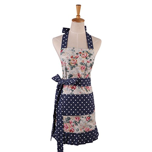 Angeka Cotton Fabric Flirty Women 39 S Apron With Big Pocket In Front Used For Home Baking Or