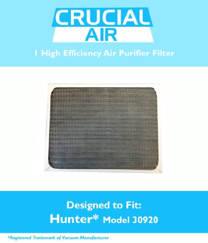 1 Hunter 30920 Air Purifier Filter; Fits Hunter Models: 30050, 30055, 30065, 37065, 30075, 30080 & 30177; Designed & Engineered by Crucial Air (30920 Hunter Replacement Filter compare prices)