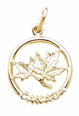 14Ky Canada Maple Leaf Charm
