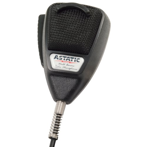 Astatic 302-10001 4-Pin Noise-Cancelling Microphone (Black)