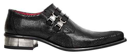 New RockM 2288 S1 - Mocassini Uomo , Nero (Black (nero)), 45 EU