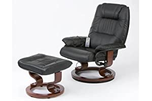 Burgundy Napoli Recliner Massage Heat Chair And Foot Stool Swivel       Customer reviews and more news
