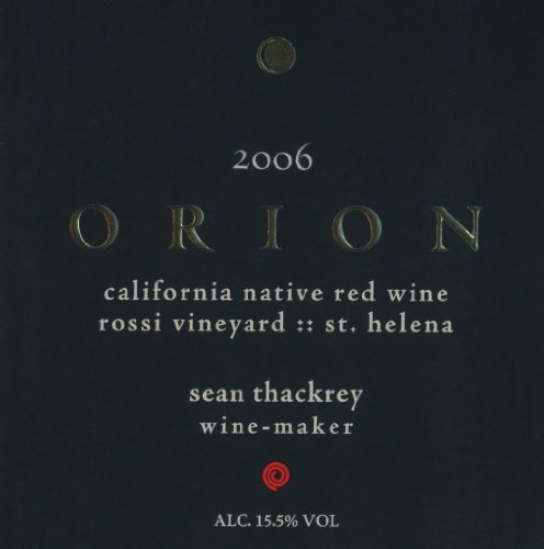 2006 Thackrey Orion Red 750 Ml
