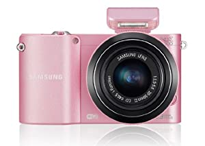 Samsung NX1000 Digital Compact System Camera - Pink (20-50mm Lens, 20.3MP) 3 inch LCD Screen