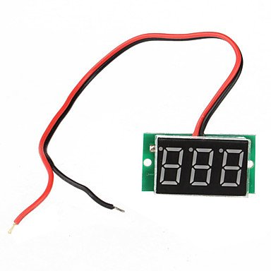 Zcl Mina 4.5-30V Digital Led Auto Car Truck Voltmeter (Voltage Panel Meter)