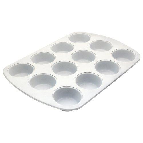 Ceramabake Bc6000 Range Kleen 12-Cup Muffin Pan, White