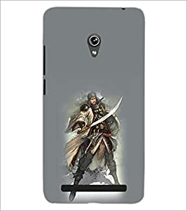 PrintDhaba Warrior D-1034 Back Case Cover for ASUS ZENFONE 6 A601CG (Multi-Coloured)
