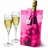 Ice Bag, Portable Wine Chiller, Hot Pink