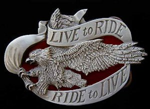 Ride to Live / Ride to Live Eagle Biker Belt Buckle