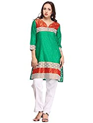 Green and Red Kurti