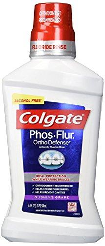 Colgate Phos Flur Anti Cavity Fluoride Rinse, Gushing Grape, 16.9 Fluid Ounce