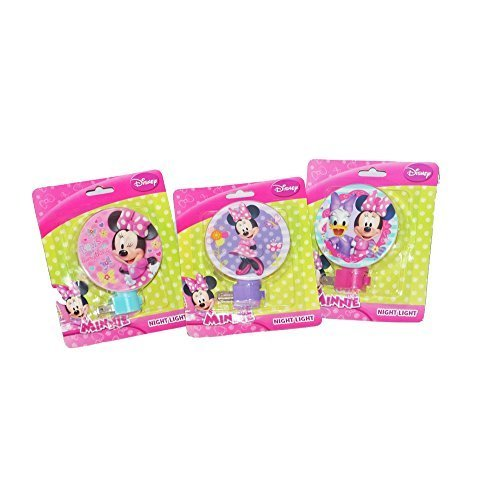 Disney Minnie Mouse Night Light, Set of Three Colorful Nightlights - 1